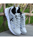 White Black Breathable Mesh Sports Shoes