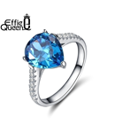 White Cubic Zirconia Effie Queen Ring