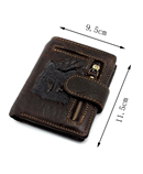 Wolf Engraved Design Leather Wallet