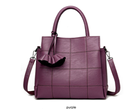 YASICAIDI Fashion Pu Purple Leather Women Shoulder Bag