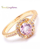 Yunkingdom Stylish Pink Zirconia Rings